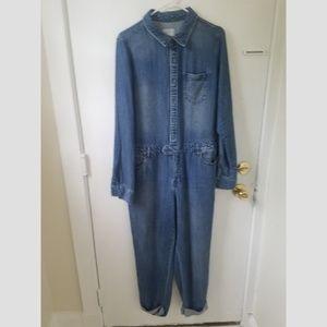 1970s Denim Boiler Suit